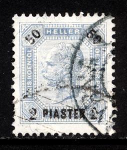Austria Turkey 1901  Scott #35b w/ varnish used