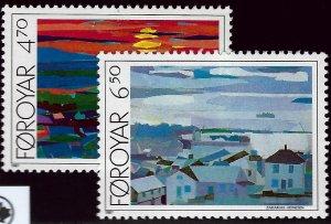 Faroe Islands SC#166-167 Mint VF SCV$4...Faroe Islands are Magical!