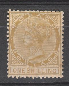 TOBAGO 1880 QV 1/- WMK CROWN CC