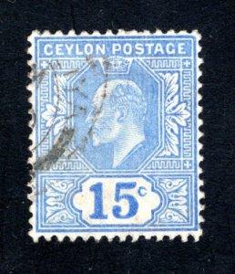 Ceylon #172,  VF, Used, CV $3.50 ....  1290137