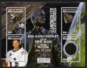 Micronesia 2009 40th Anniversary of Moon Landing perf she...