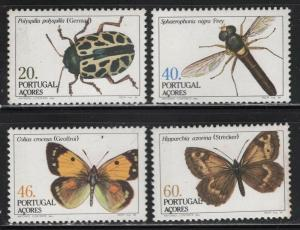 Portugal-Azores 1985 Insects set Sc# 349-52 NH