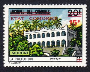 Comoro Is. Overprint 'Etat Comorien' 15 Fr on 20 Fr Moroni SC#134 MI#215