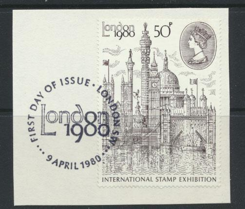 SG 1118 SC# 909 - Used on piece London FDC Cancel - Stamp Exhibition