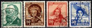 Switzerland #B106-9  F-VF Used CV $15.25  (X2581)