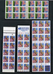 4 Full Flag Panes #2919a,2920a,2920De,Bk226