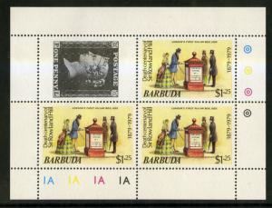 BARBUDA 383 SHEET OF 3 MNH SCV $1.50 BIN $1.00