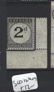 GRENADA  (PP0405B)  POSTAGE DUE 2D  SG D12  MOG