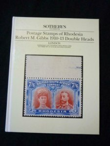 SOTHEBY'S AUCTION CATALOGUE 1987 RHODESIA ROBERT M GIBBS 1910-13 DOUBLE HEADS