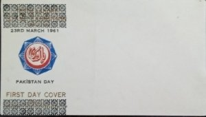 Pakistan : 1961 : First day Envelope : National Day