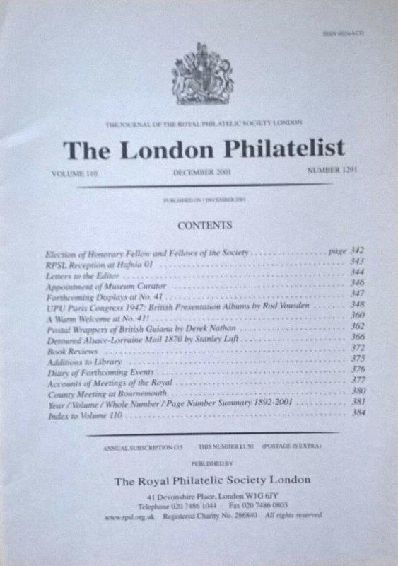 UPU Paris Congress 1947: British Presentation Albums PUC Crown Agents