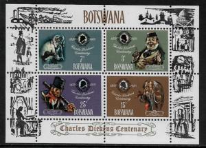 Botswana #65a MNH S/Sheet - Charles Dickens