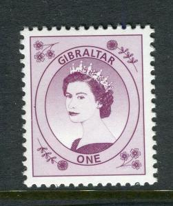 GIBRALTAR; Early QEII 1960s issue MINT MNH unmounted Trial/Cynder. 1d. value