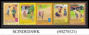 MALAYSIA - 2000 CHILDREN TRADITIONAL GAMES - 5V STRIP MNH