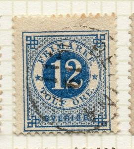 Sweden 1872-77 Early Issue Fine Used 12ore. 306315