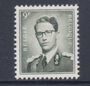 Belgium Sc 466 MLH. 1958 9fr gray King Baudouin single from long set, VLH, VF