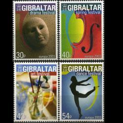 GIBRALTAR 2003 - Scott# 928-31 Europa-Posters Set of 4 NH