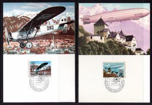 Liechtenstein 663-664 Europa Maxi Cards U/A FDC Set of Two
