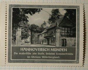 Weferbergland Germany Summer Resort Ad German Tourism Poster Stamp