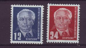 J6463 JL stamps 1950-1 DDR germany mh #54-5 pieck $41.00v