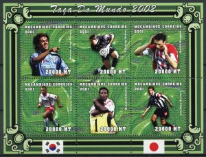 Mozambique MNH S/S World Cup Soccer 2001 6 Stamps