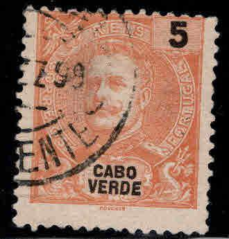 Cabo or Cape Verde Scott 37 Used stamp