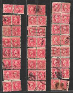 528B Used Pairs, 40 Used Pairs & 1 Block,  scv: $33, FREE INSURED SHIPPING