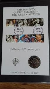 Isle of Man 2000 The Queen Mother Limited Edition FDC