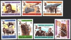 South Arabia. 1967. 166A-72A. Kennedy, space. MNH.