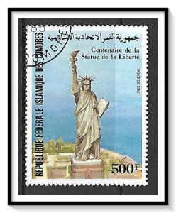 Comoro Islands #608 Statue of Liberty CTO NH