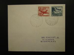 Chile 1957 Antarctic Expedition Cover to USA / Folded - Z6245