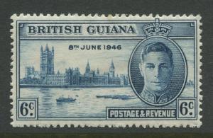British Guiana - Scott 243 - Peace Issue - 1946 - MH - Single 6c Stamp