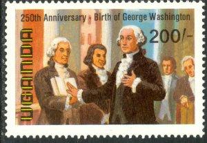 UGANDA 1982 200sh GEORGE WASHINGTON Anniversary Issue Sc 357 MNH