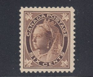 #71 Maple Leaf Issue 6c Brown Superb centering MINTHinged Cat $200+ Canada