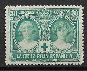 1926 Spain B8 Princesses Maria Cristina & Beatrice 30ctos MH