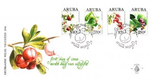 Aruba, Worldwide First Day Cover, Flowers