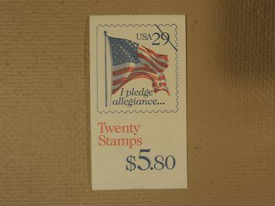 USPS Scott 2593a 29c Pledge Of Allegiance Book Of 20 1992...