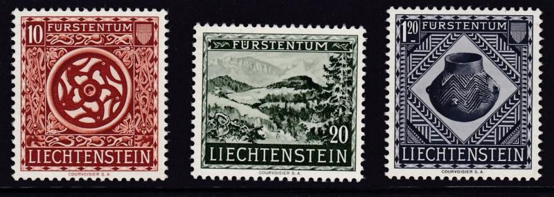 Liechtenstein 1953 Artifacts Opening the National Museum (3)  VF/NH