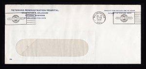 VA HOSPITAL SLOGAN ⭐ ABILITY COUNTS ⭐ METERED ENVELOPE WILMINGTON DE 1960