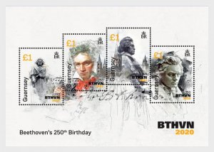 2020 Guernsey Beethoven SS (Scott NA) MNH