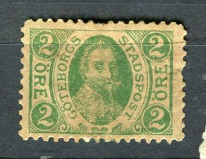 NORWAY; GOTEBORGS 1880s- early classic By Post Local Imperf issue used value