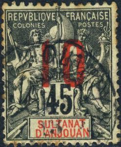ANJOUAN / MADAGASCAR - 1913 CàD AMBATOLAMPY sur Yv.27 / Mi.107.I 10c/45c