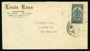 Mexico Scott C70 On 1941 Airmail Cover to New York City