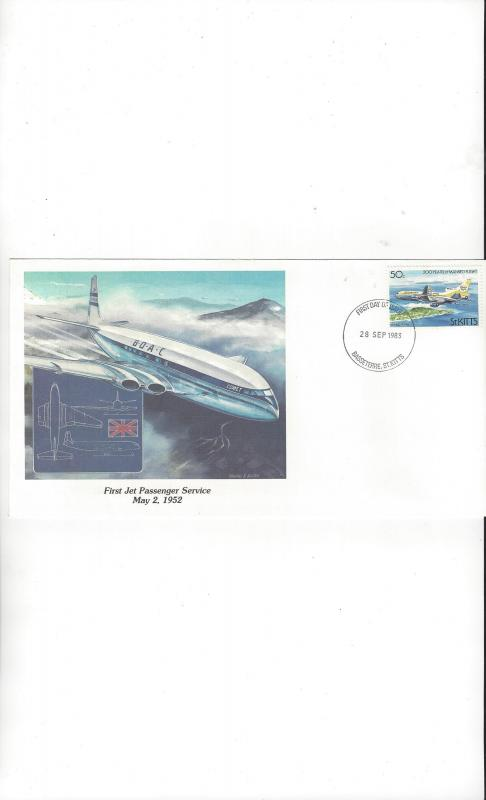 St. Kitts Fleetwood Cachet of Man's Conquest of the Heavens 1983 FDC