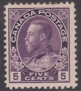 Canada - #112 - 5c Violet Admiral mint