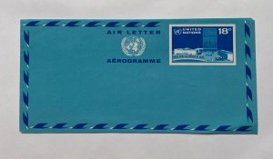 UNITED NATIONS COVER  UNITED NATIONS ,, AIR LETTER