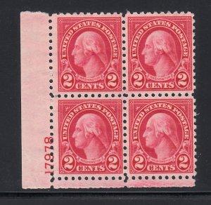 U.S. #583 F/OG Plate block of 4
