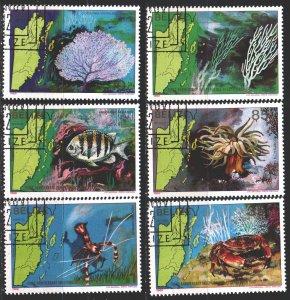 Belize. 1982. 654-59. Marine fauna, fish. USED.