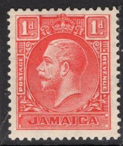 JAMAICA SG108 1929 1d SCARLET DIE I MTD MINT