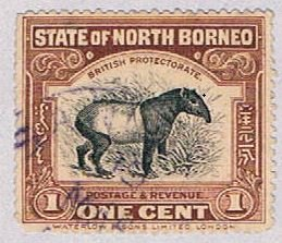 North Borneo 136 Used Tapir 1909 (BP35926)